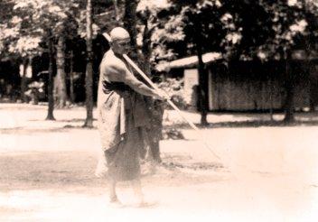 Ajahn Chah  sweeping