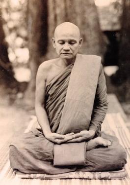 Ajahn Chah meditating.